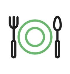 Dinner Plate vector