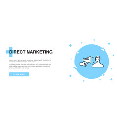 direct marketing icon banner outline template vector image