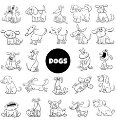 dog and puppies characters large collection vector image