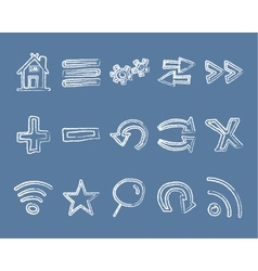 Doodle Web Elements Set vector image