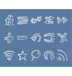 doodle web elements set vector image