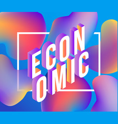Economic gradient isometric word design - colorful vector