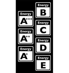 Energy tags vector