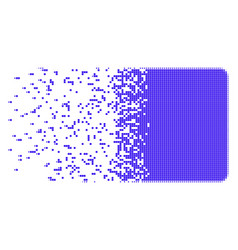 Filled square burst pixel icon vector