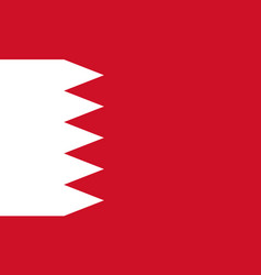 flag of bahrain official colors and proportions vector image