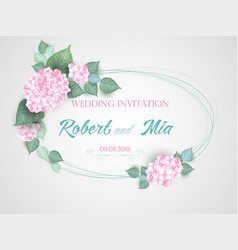flower wedding invitation card vector image