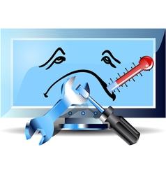 flu computer vector image