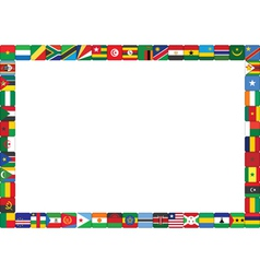 frame made of African countries flags vector image