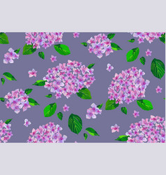 garden pink flowers seamless pattern vector image