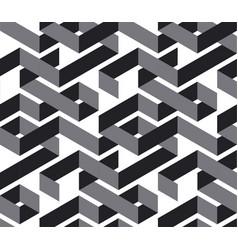 geometric maze color 3d seamless pattern vector image