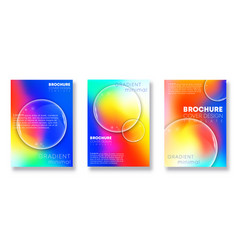gradient cover templates with transparent lens vector image