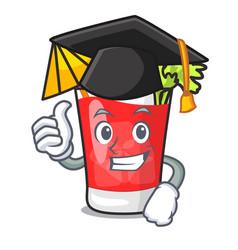 Graduation bloody mary character cartoon vector