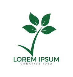 green logo with a leaf vector image