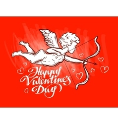 greeting card on the theme of Valentines day vector image