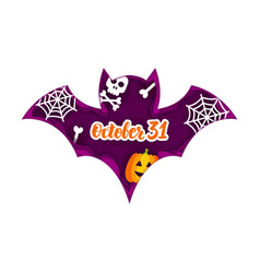 Halloween bat paper cut concept vector