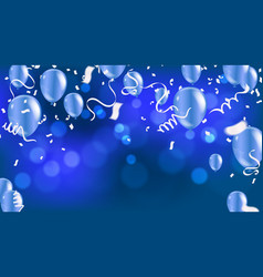 happy birthday greeting card bokeh effect and vector image