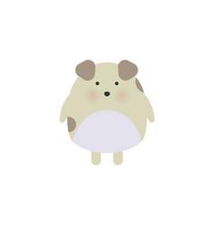 happy cartoon puppy sitting portrait of cute vector image