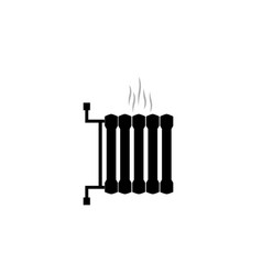 heating radiator black symbol central heating 10 vector image