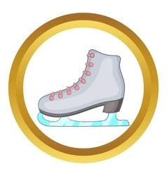 Ice skate boot icon vector