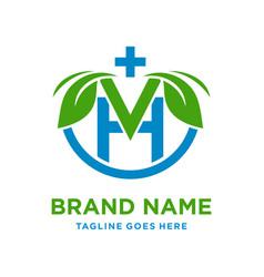 initial logo v natural vector image