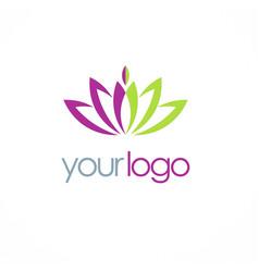 lotus flower spa logo vector image