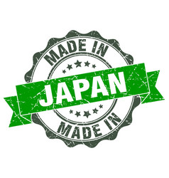 made in japan round seal vector image