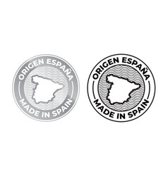 made in spain origen espana logo product label vector image