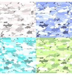 Military camouflage patterns set Hand vector