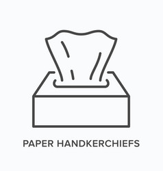 napkin flat line icon outline vector image