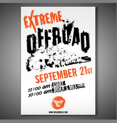Off-road horizontal poster vector