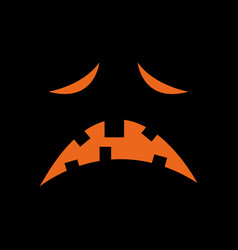 orange sad face vector image
