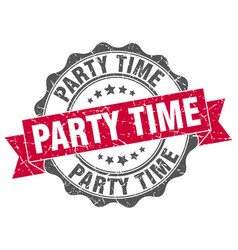 party time stamp sign seal vector image