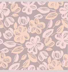 pastel rose shade abstract flower seamless pattern vector image