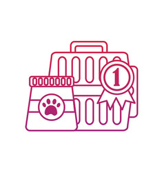 Pet transporter award ribbon food icon image bir vector