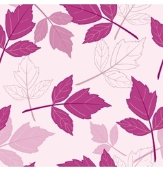 Pink seamless pattern with leaves vector