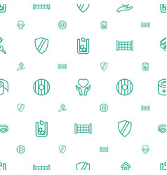 Protection icons pattern seamless white background vector