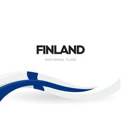 republic finland waving flag banner vector image