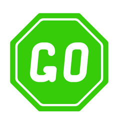 Road sign go on white background vector