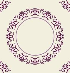 Round frame with corner vector