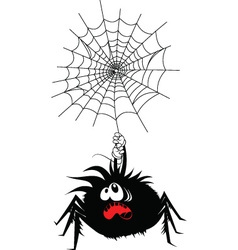 Scared spider vector image