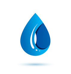 Sea wave splash symbol pure water as most vector