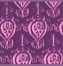 Seamless ikat pattern bordo vector