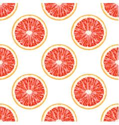 Seamless pattern of grapefruit citrus background vector