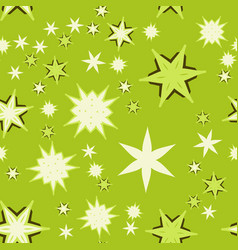 Seamless texture light green stylized flowers and vector
