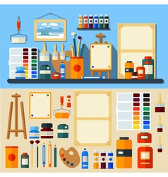 Set of Tools and Materials for Creativity vector image