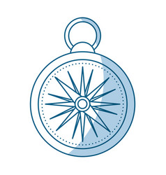 Shadow compass cartoon vector