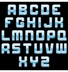 Shiny Glass Font Image vector image