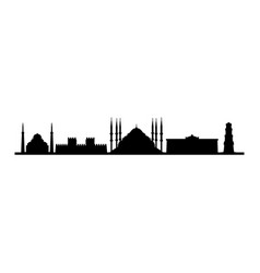 skyline istanbul vector image
