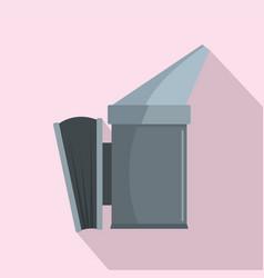 smoke honey tool icon flat style vector image