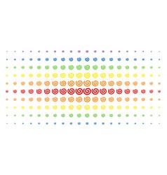 Spiral spectral halftone pattern vector